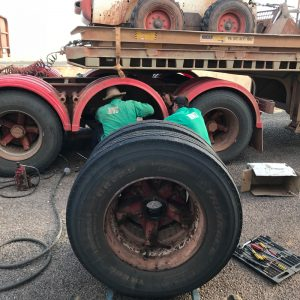 Changing Trailer Tyres